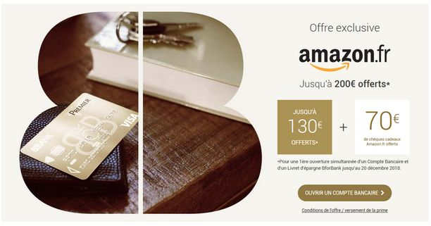 Bforbank offre Amazon
