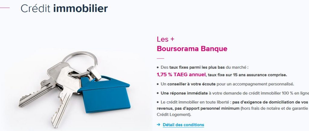 credit immobilier boursorama