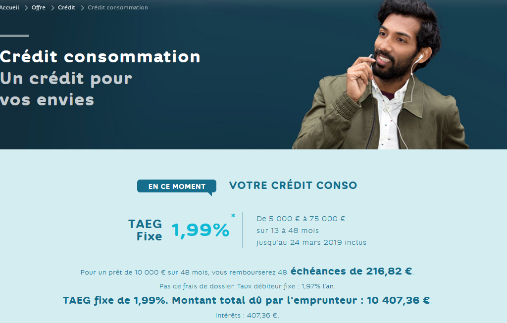 crédit consommation Hello Bank