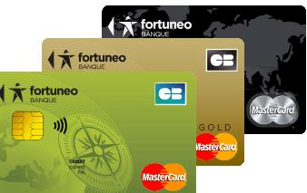 cartes bancaires Fortuneo mastercard