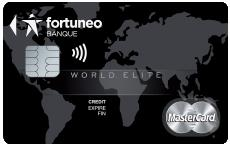 carte bancaire Fortuneo world elite mastercard