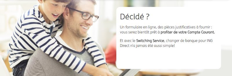 services ing direct, profitez du switching service